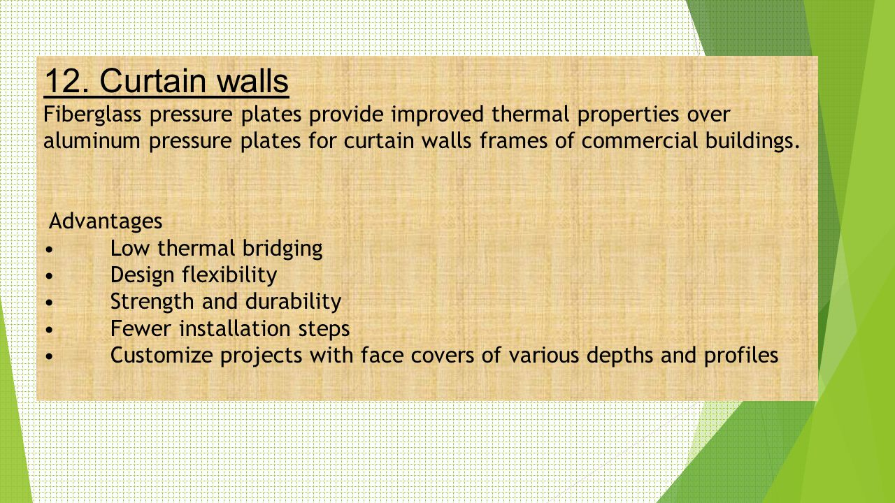 12. Curtain walls