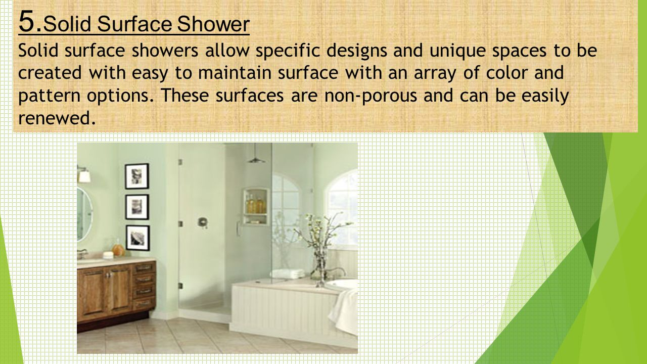 5.Solid Surface Shower