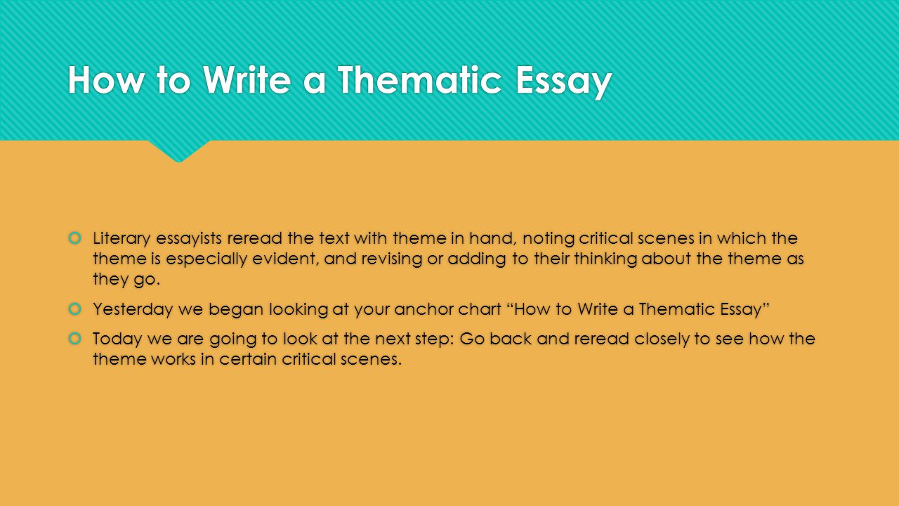 how to write a theme paper No one taught you how to write a literary essay  the purpose of a literary analysis is to analyze a particular theme or aspect of the book or poem you've read.