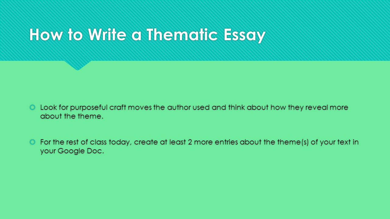 writing theme essays How to write an effective essay: the introduction - duration: 21:22 jamesesl english lessons (engvid) 1,684,699 views 21:22 how to write an effective.