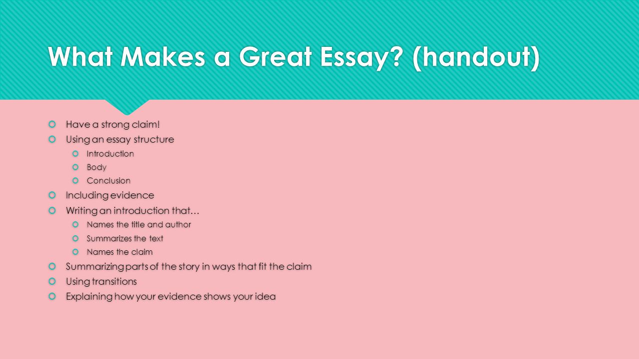 what makes a good history essay introduction Ib history extended essay: 2018 i hope to upload some particularly good studies to this for the extended essay you will be expected to make especially heavy.