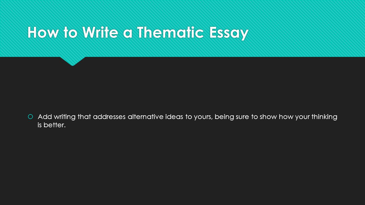 Thematic essay