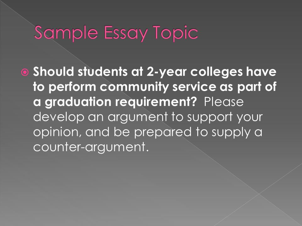 community service as a graduation requirement essay Meeting the requirements for graduation to complete the community service graduation requirement for miami‐dade county public schools, each.