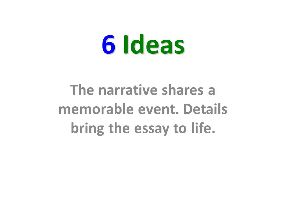 exit slip period date ppt  48 6 ideas the narrative shares a memorable event details bring the essay to life