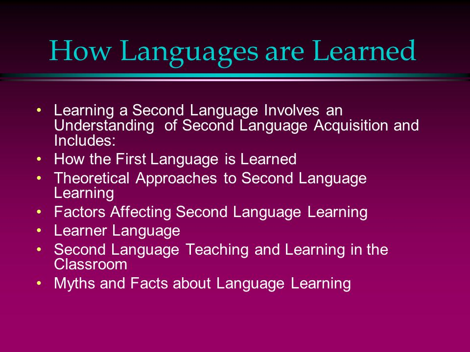 factors affecting the second language learners When our students are learning english as a second language, they are undergoing the hard process of language acquisition their internal feelings can certainly affect how they progress and this lesson gives you an overview of those factors in learning.