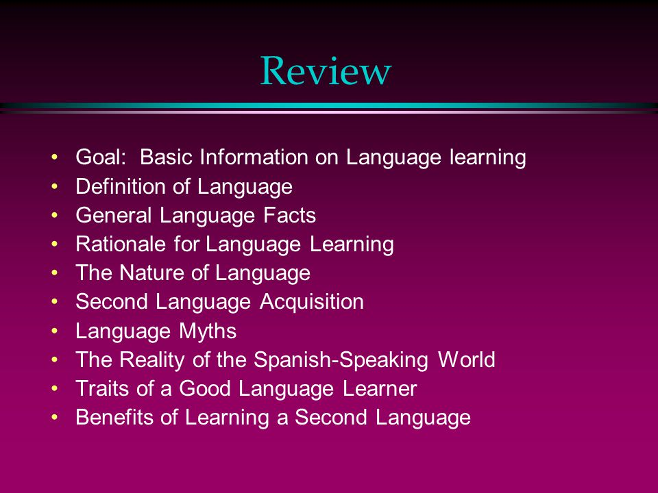 definition of language learning pdf