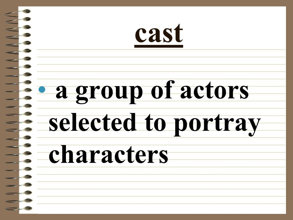 cast a group of actors selected to portray characters