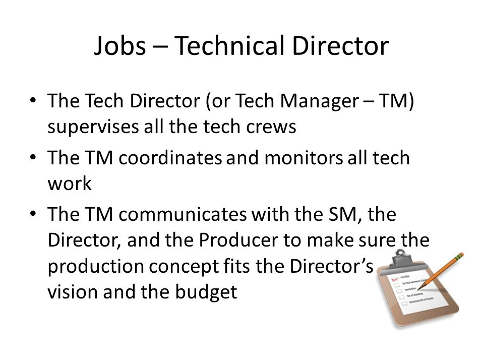 Jobs In Theatre  Ppt Video Online Download