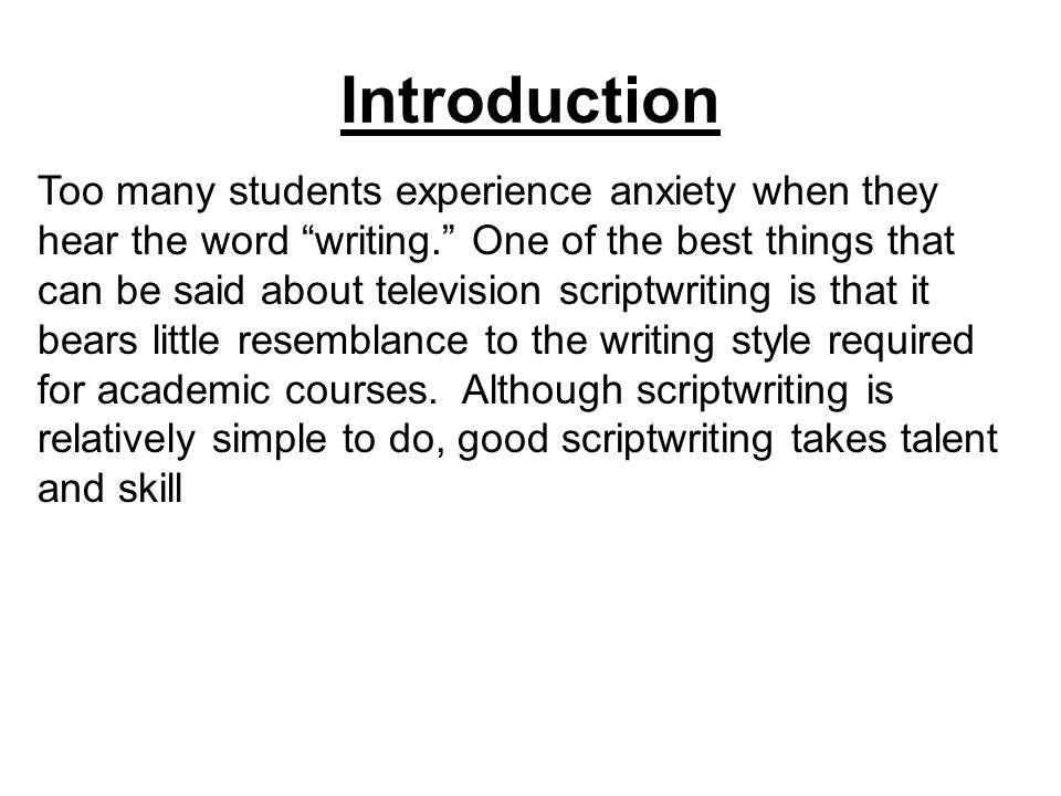 introduction to script writing pdf