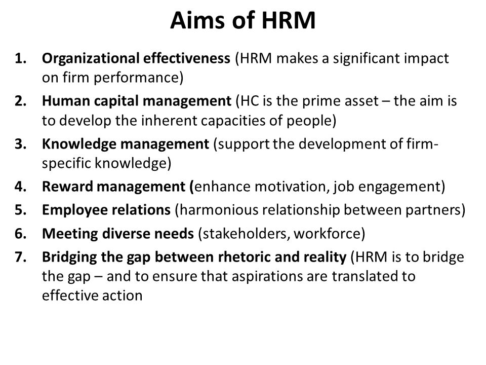 Human Resource Management And Strategic Human Resource Management