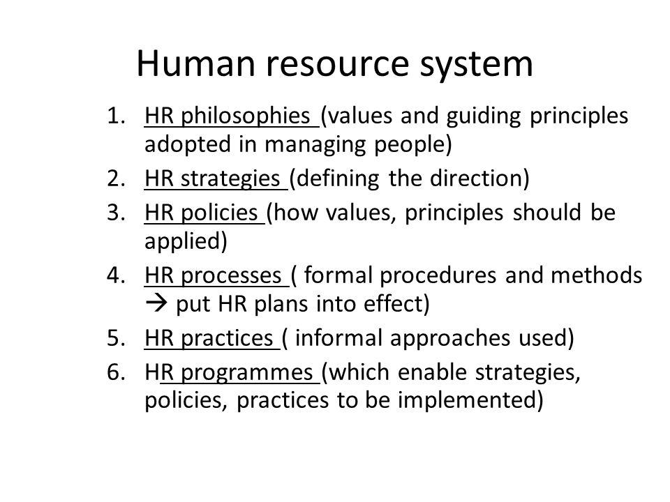 principles of strategic human resource management pdf
