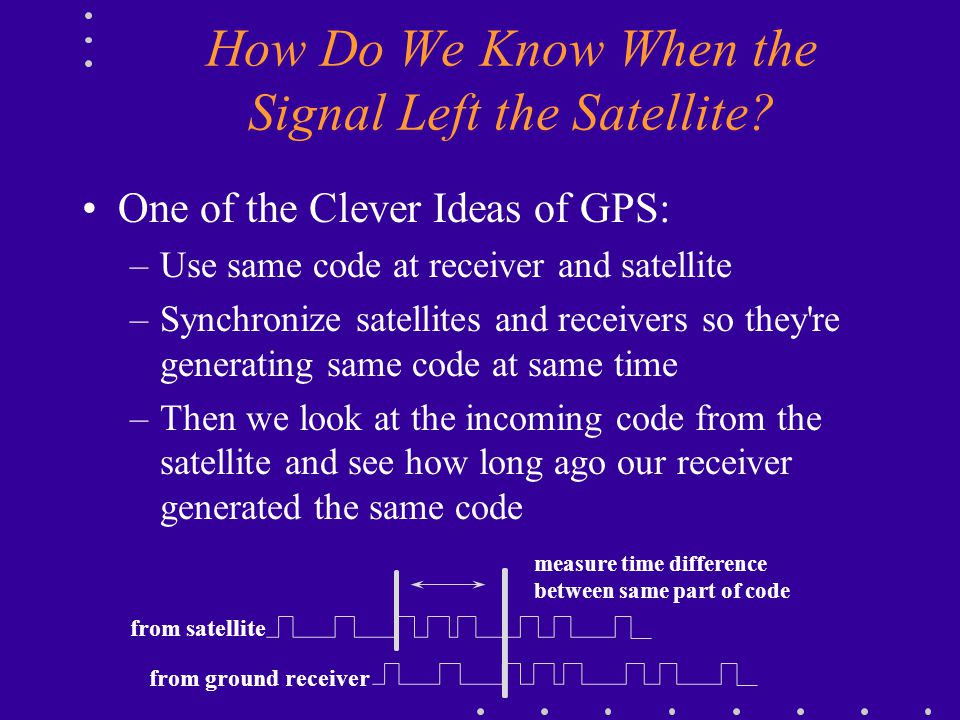 How Do We Know When the Signal Left the Satellite