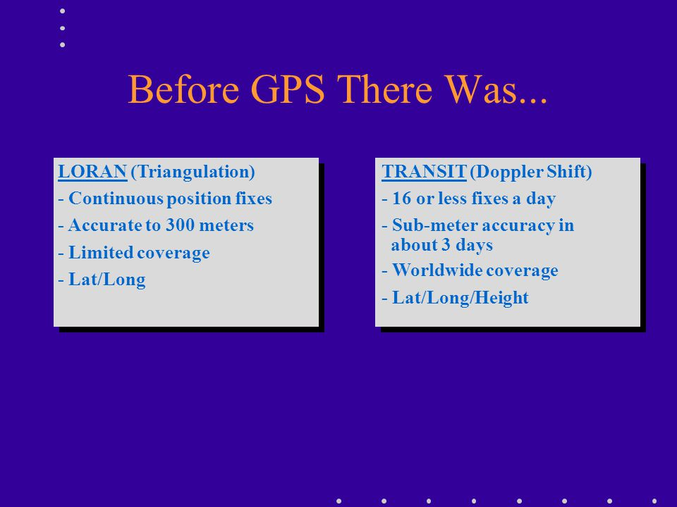 Before GPS There Was... TRANSIT (Doppler Shift)