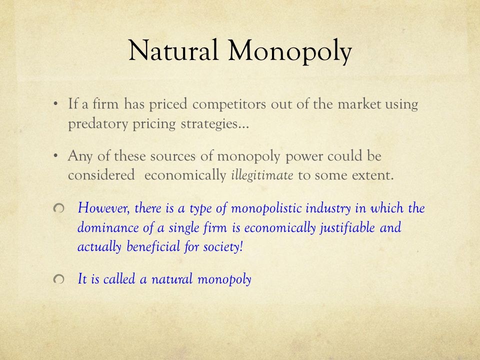 Monopoly Power: Degree, Sources and Measures | Markets