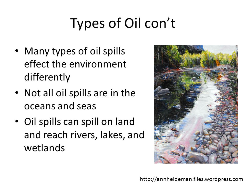 Features of an Oil Spill