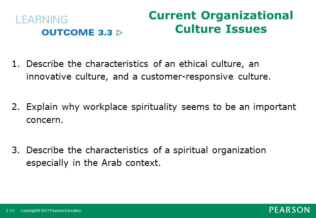 Current Organizational Culture Issues