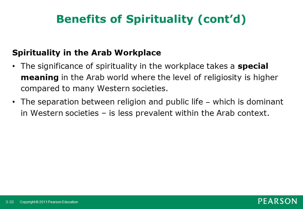 Benefits of Spirituality (cont'd)