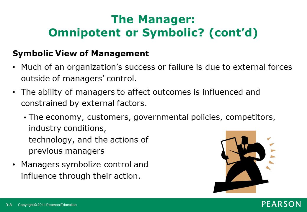The Manager: Omnipotent or Symbolic (cont'd)