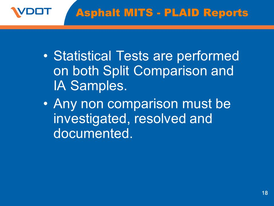 Asphalt MITS - PLAID Reports