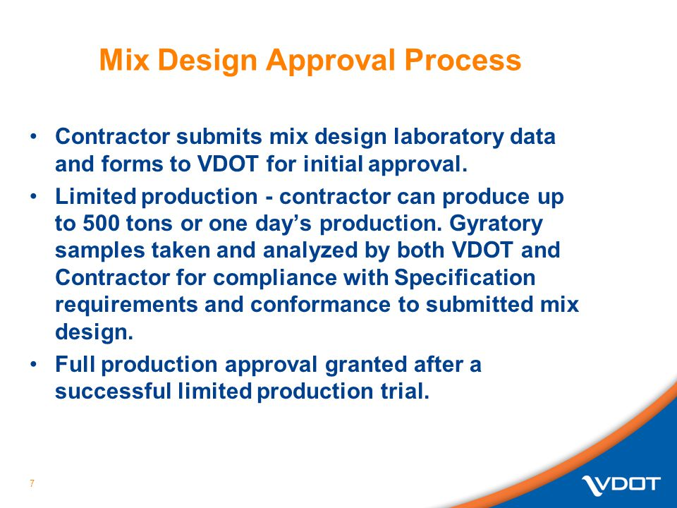 Mix Design Approval Process