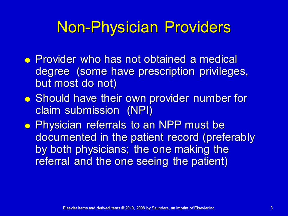 Non-Physician Providers