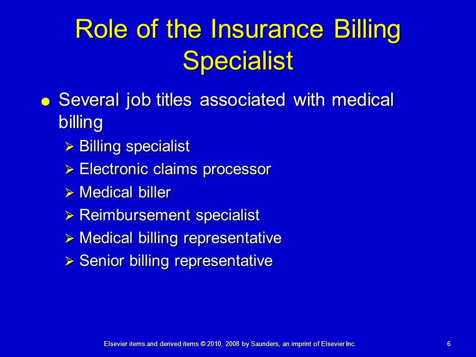 Role of the Insurance Billing Specialist