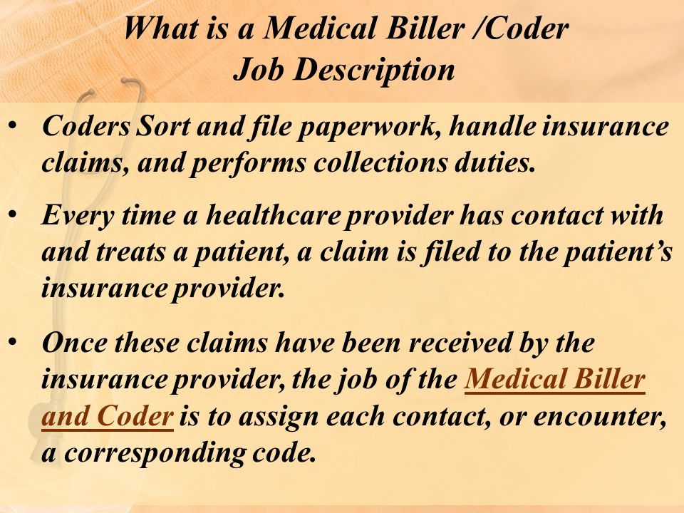 What is a Medical Biller /Coder