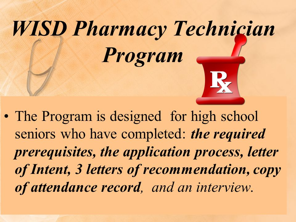 WISD Pharmacy Technician Program