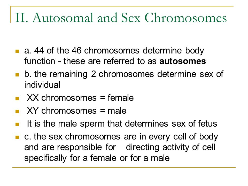 sex chromosomes and autosomes relationship test