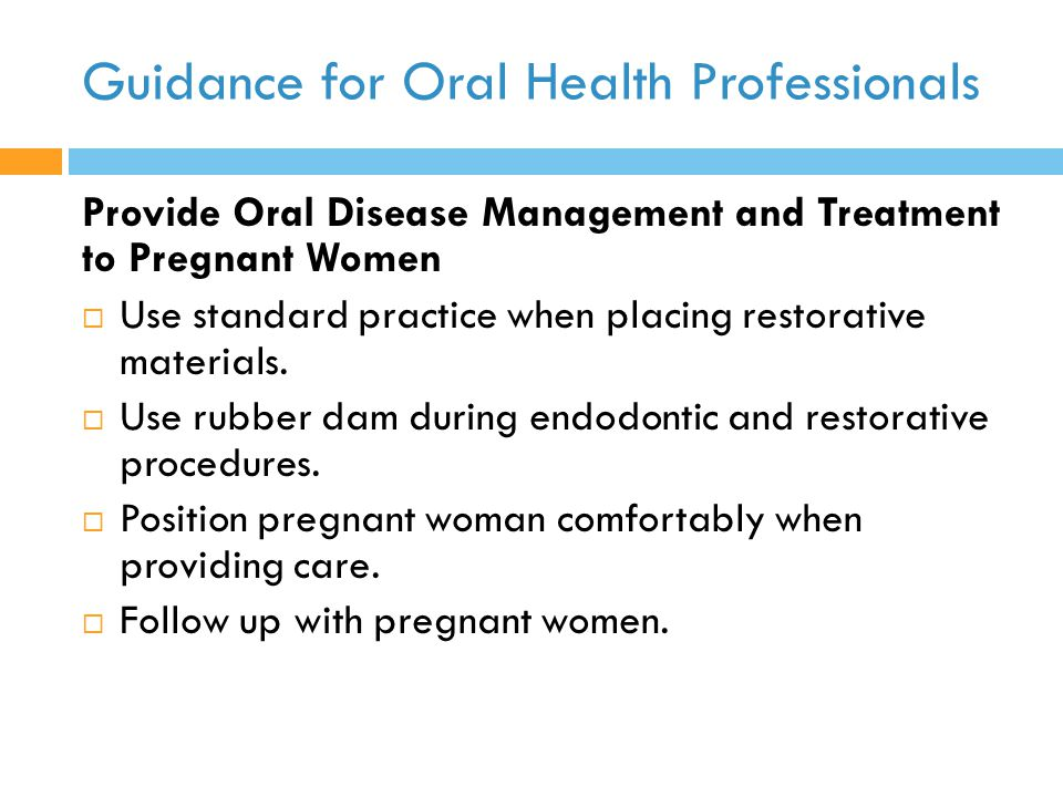 Guidance for Oral Health Professionals