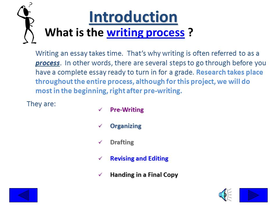 Steps to essay writing