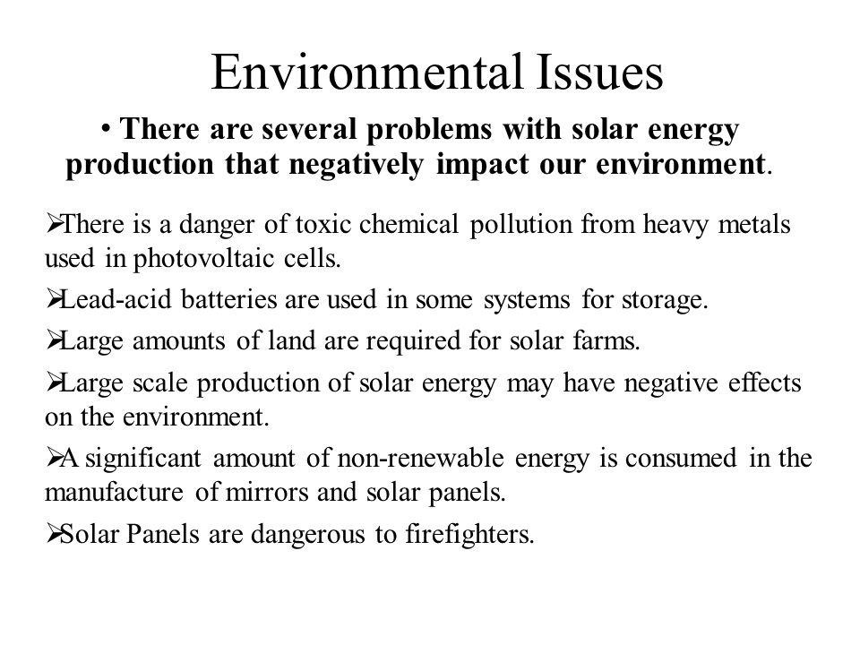 Environmental Impacts of Renewable Energy Technologies