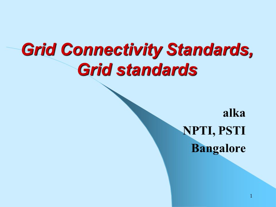grid connectivity standards grid standards ppt video online download rh slideplayer com