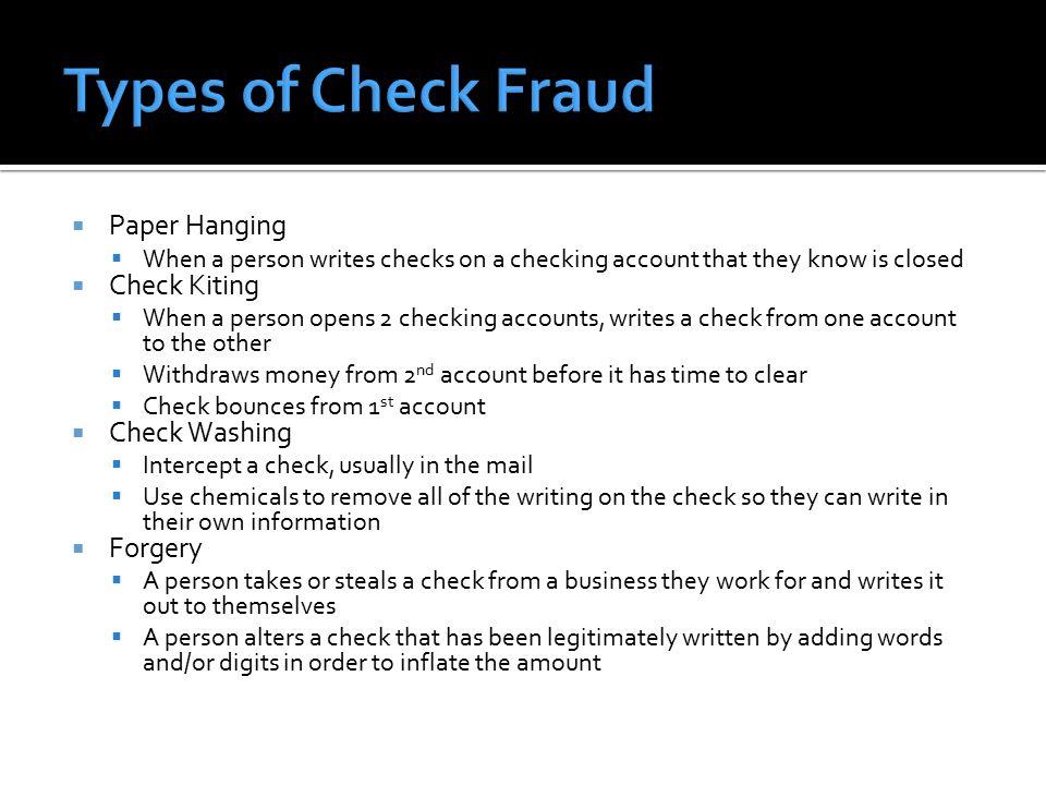 fraud paper