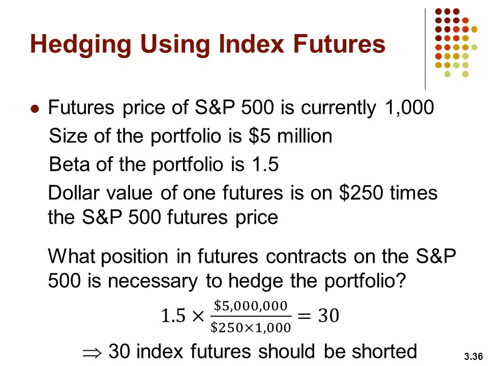 hedging using futures Chapter 4 hedging strategies using futures and options 41 basic strategies  using futures while the use of short and long hedges can reduce (or eliminate.