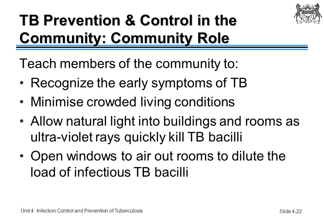 TB Prevention & Control in the Community: Community Role