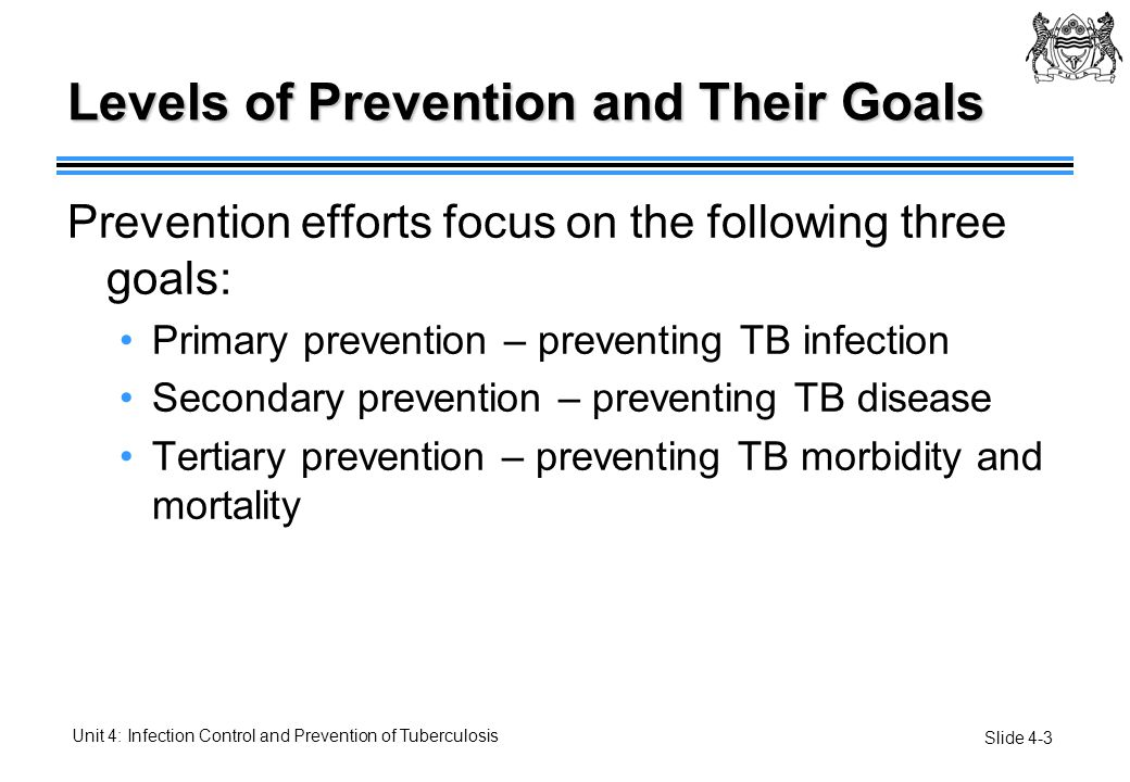 Levels of Prevention and Their Goals
