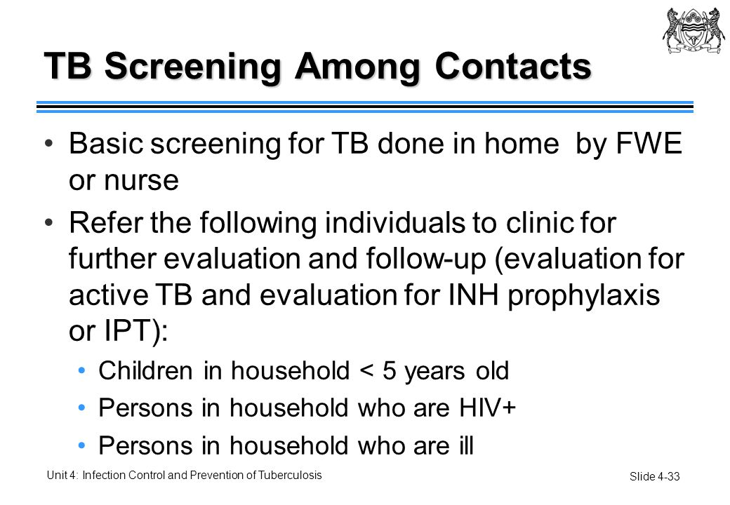 TB Screening Among Contacts
