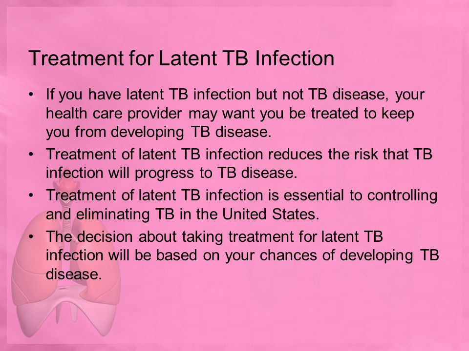 Treatment for Latent TB Infection