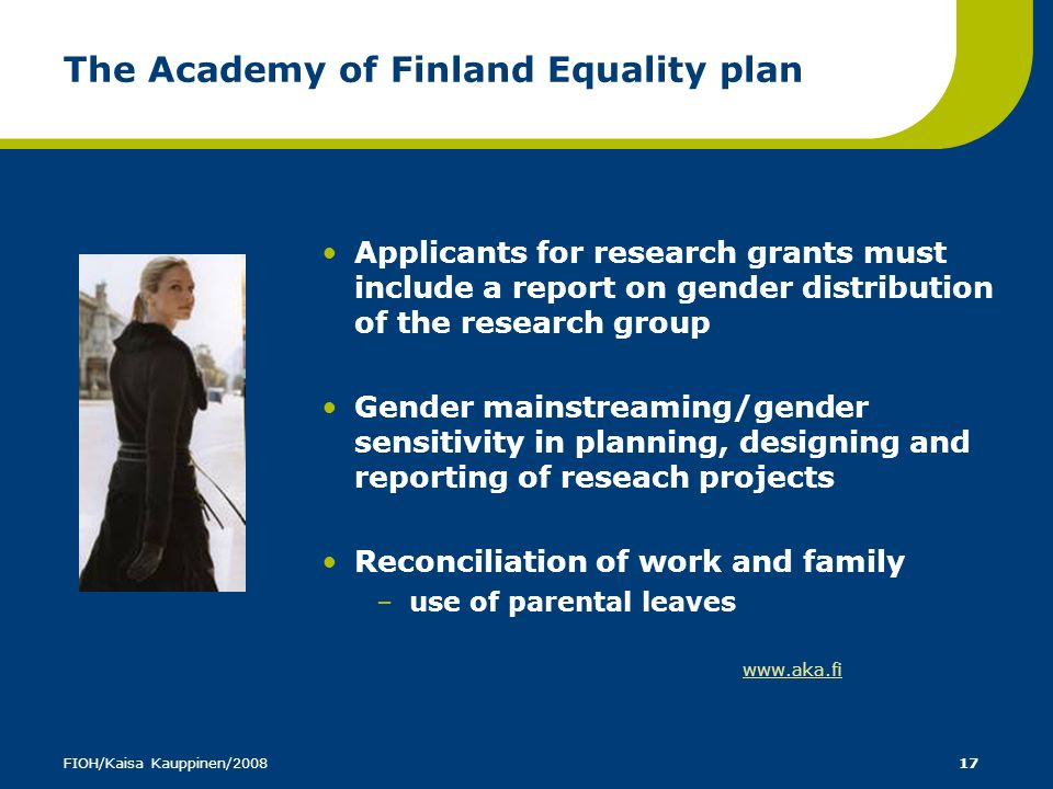 The Academy of Finland Equality plan
