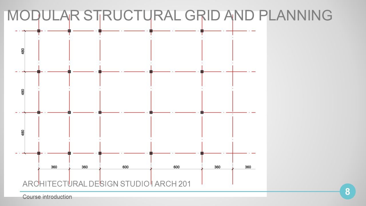 Architectural design studio i arch ppt video online download for Architecture 9 square grid