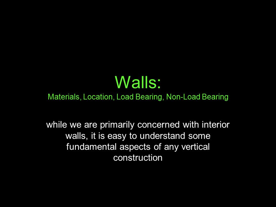 load bearing and non load bearing walls pdf