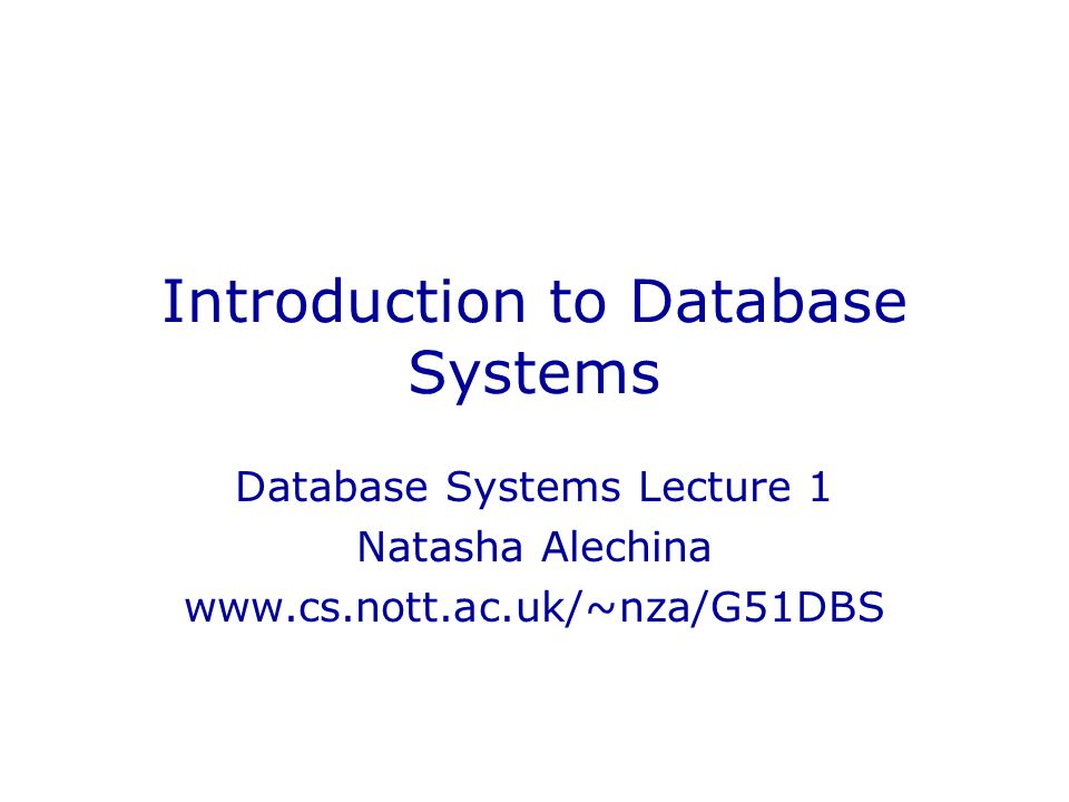 introduction to databases This course is aimed at people looking to move into a database professional role or whose job role is expanding to encompass database elements the course describes fundamental database.