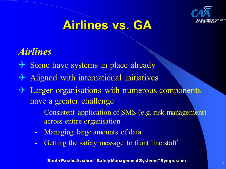 South Pacific Aviation Safety Management Systems Symposium