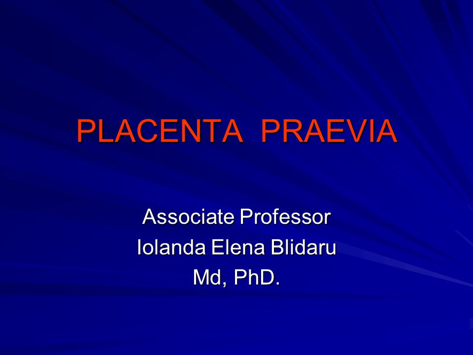 Associate Professor Iolanda Elena Blidaru Md, PhD.