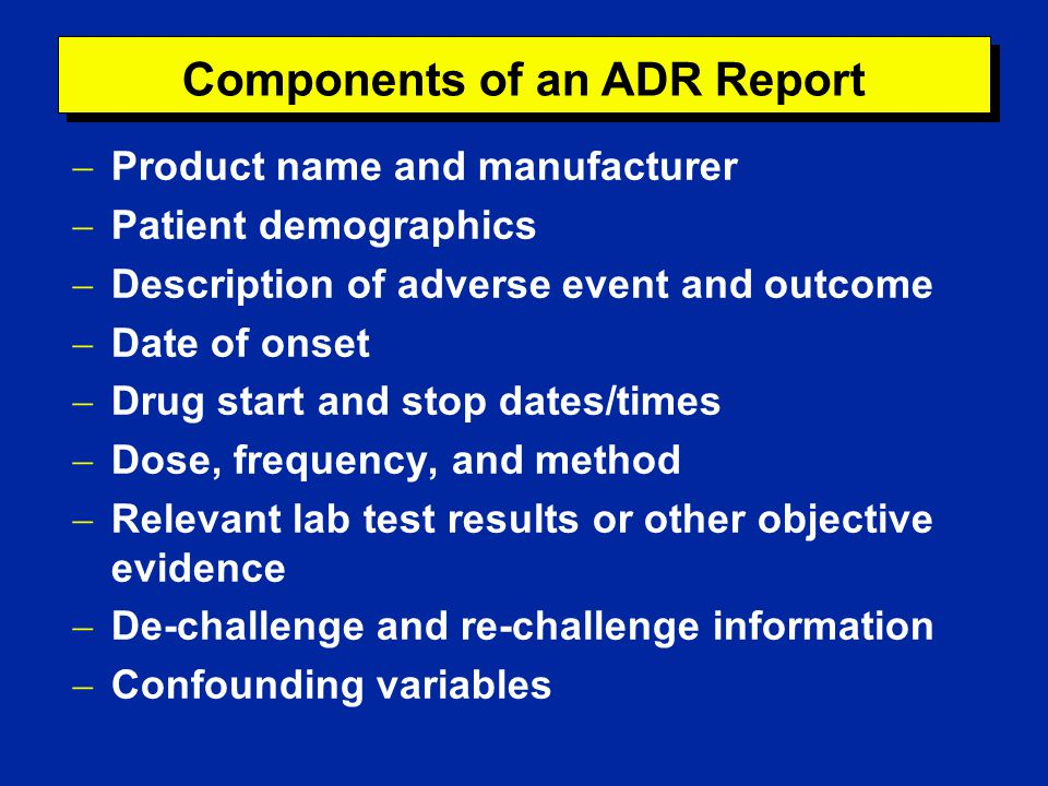 Clinical Analysis of Adverse Drug Reactions - ppt download