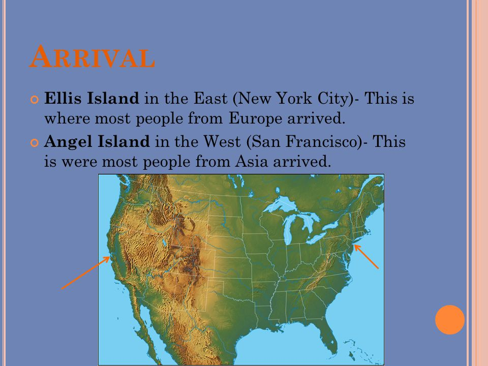 Immigrants In America Millions Of Immigrants Moved To The United - Ellis island on us map