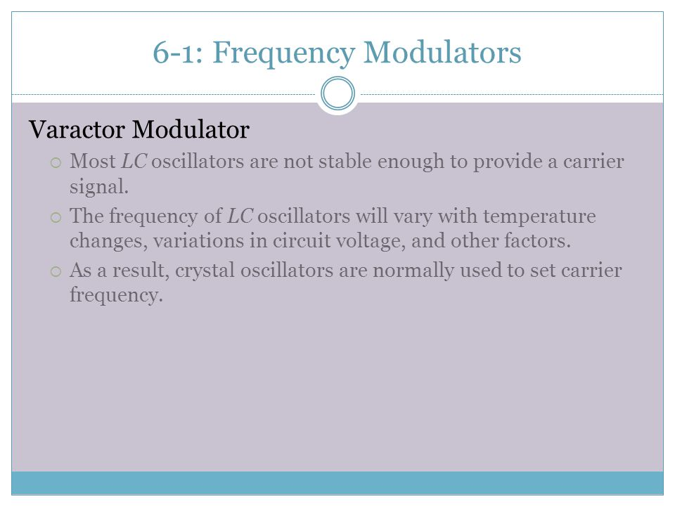 6-1: Frequency Modulators
