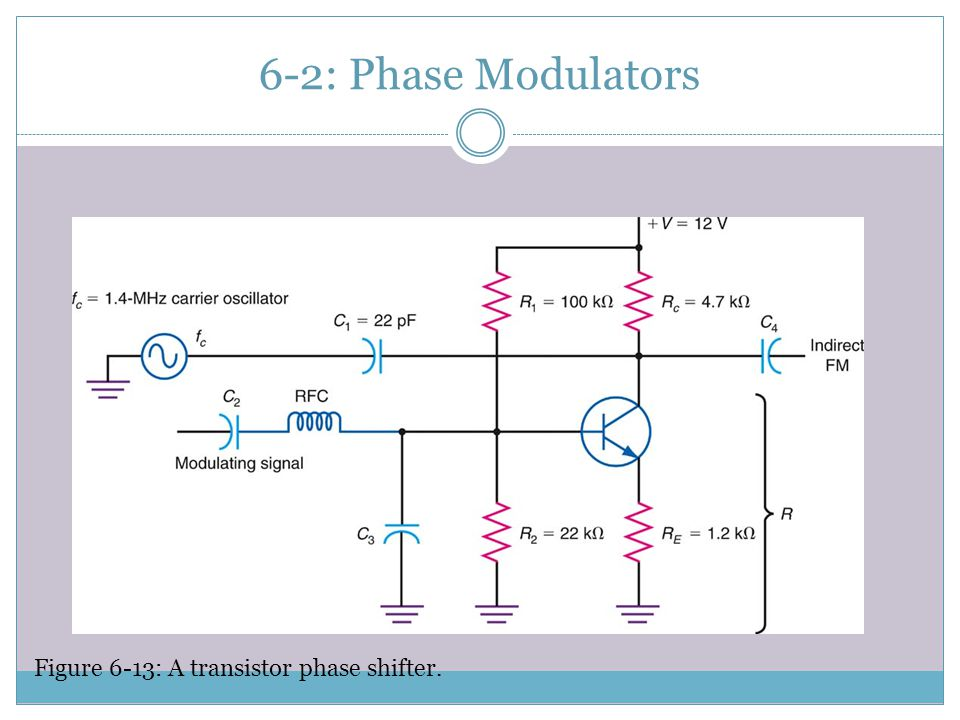 6-2: Phase Modulators Figure 6-13: A transistor phase shifter.