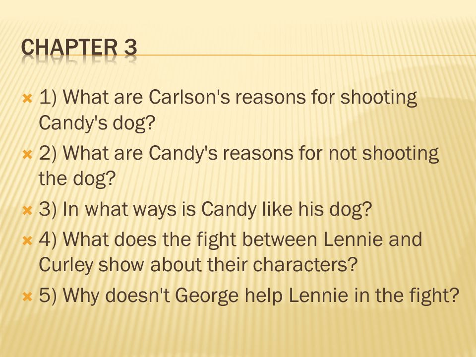 Chapter Questions Of Mice And Men Ppt Video Online Download